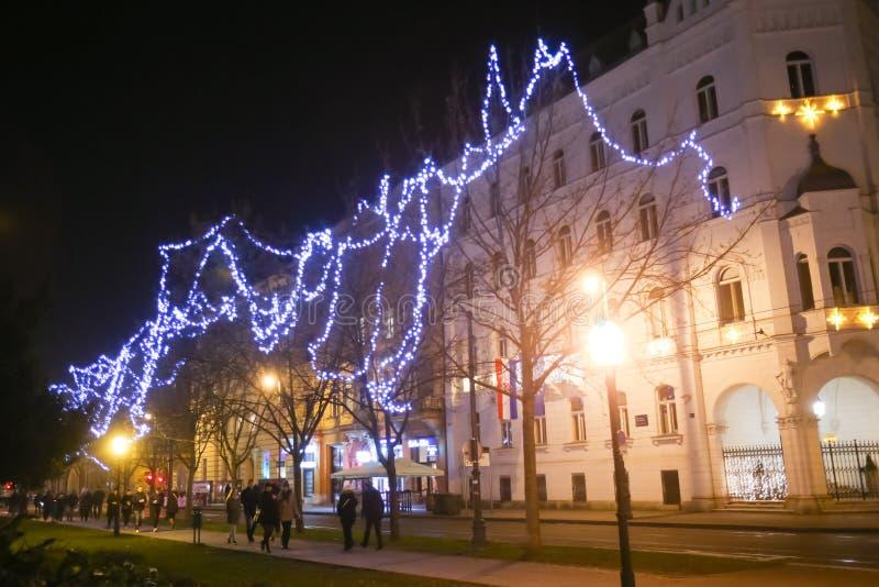 Advento em Zagreb, Croácia 2016 fotografia de stock