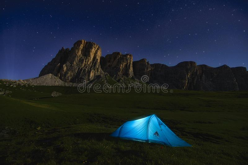 Adventure, Alps, Camp royalty free stock photography