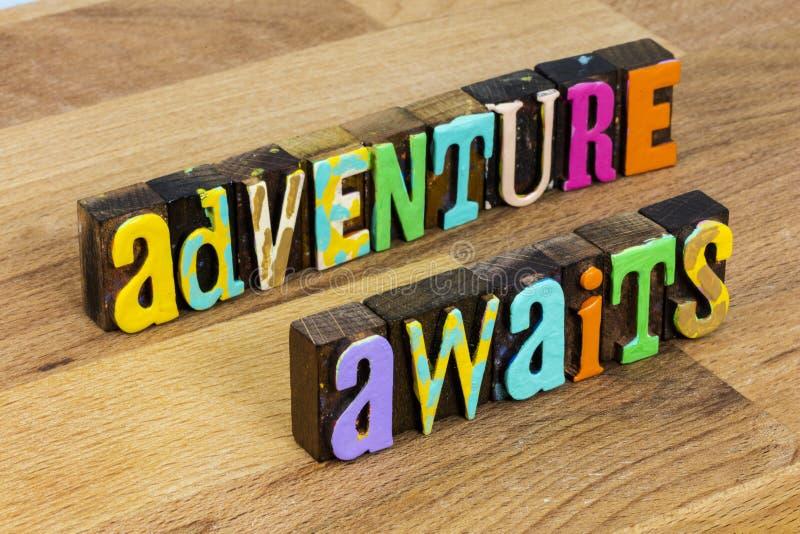 Adventure awaits no limits imagination travel exploration dream. Adventure awaits no limits imagination with travel exploration dream challenge your success royalty free stock photos