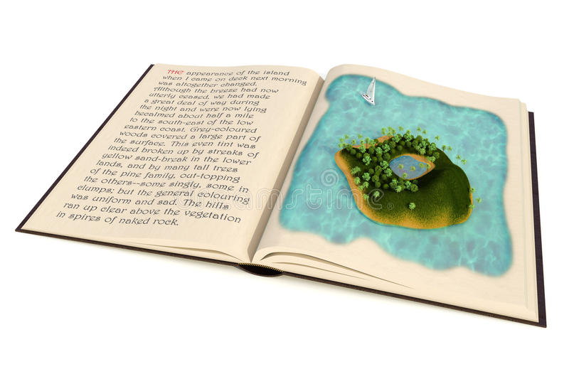 Treasure Island Story Book stock illustration  Illustration of