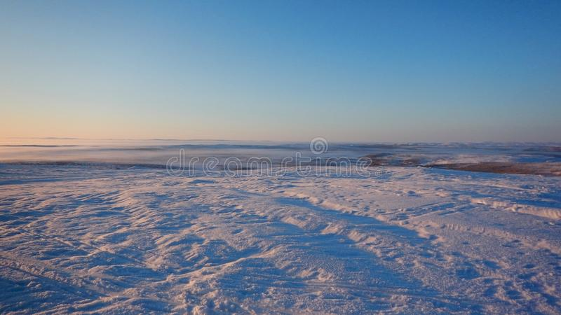 Crosscountry skiing in northern lapland beautiful nature. Adventure crosscountry skiing in northern lapland beautiful nature royalty free stock image