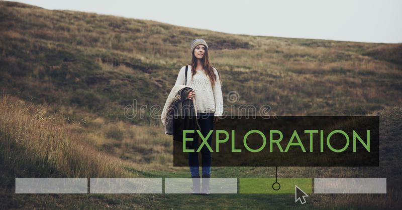 Adventure Destination Discovery Travel Exploration Vacation Icon royalty free stock images
