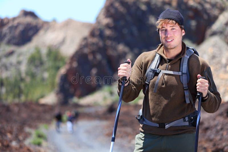 Adventure hiking man royalty free stock photography