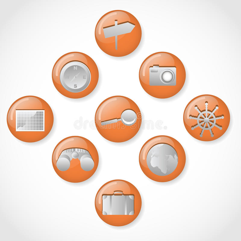 Adventure Icons Royalty Free Stock Images