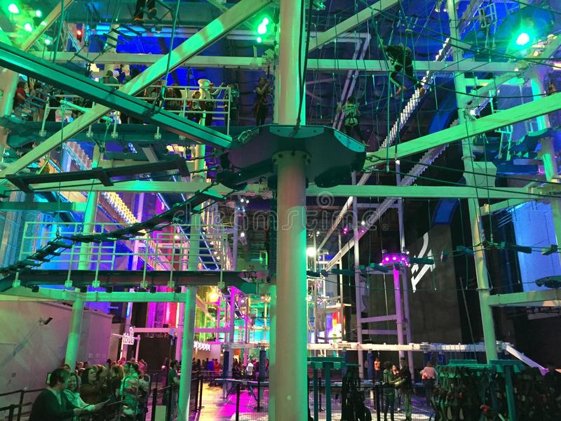 Download IT Adventure Indoor Ropes Course, New Haven, Connecticut Editorial  Photography   Image Of