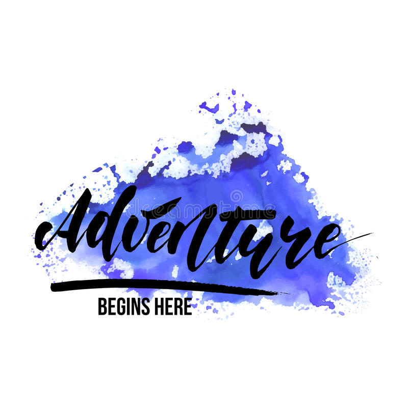 Adventure - inspirational lettering design stock illustration