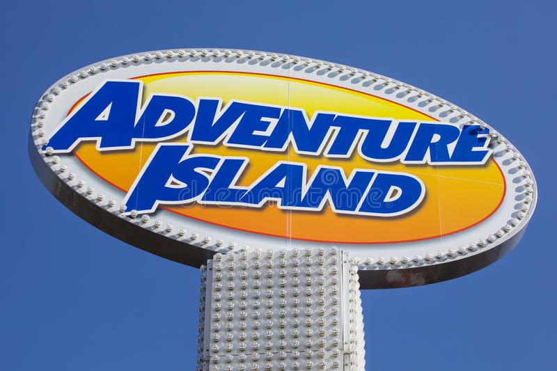 Adventure Island Amusement Park in Southend. SOUTHEND-ON-SEA, ESSEX - APRIL 18TH 2018: A sign at the Adventure Island amusement park in Southend-on-Sea in Essex royalty free stock photography