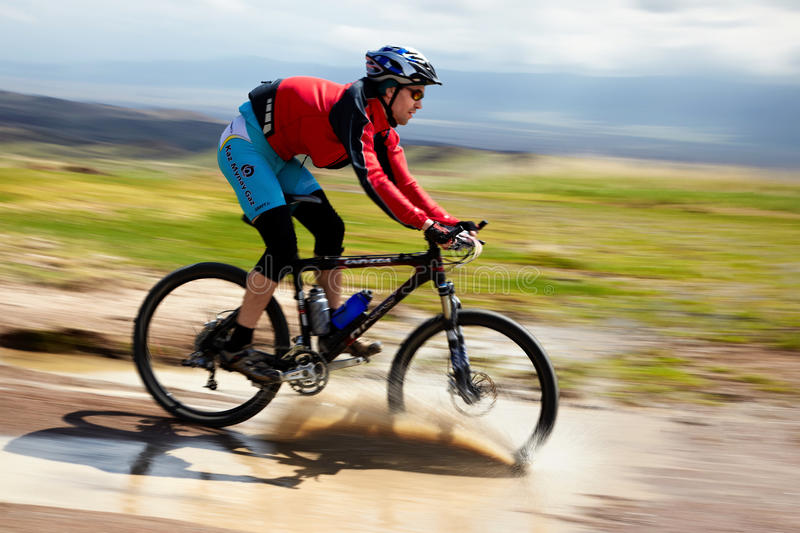 Adventure Mountain Bike Competition Editorial Image