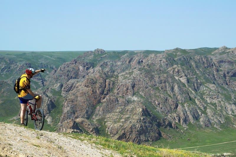 Adventure mountain biking royalty free stock images