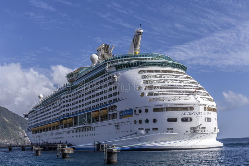 The adventure of the seas anchors in Roseau royalty free stock photo