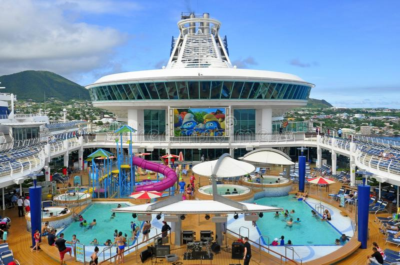 Adventure of the Seas cruise ship pool deck royalty free stock image