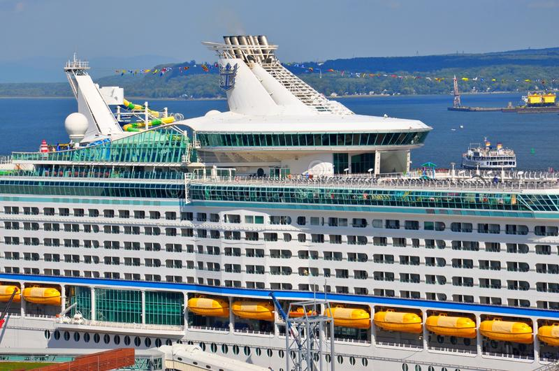 Adventure of the Seas cruise ship stock images
