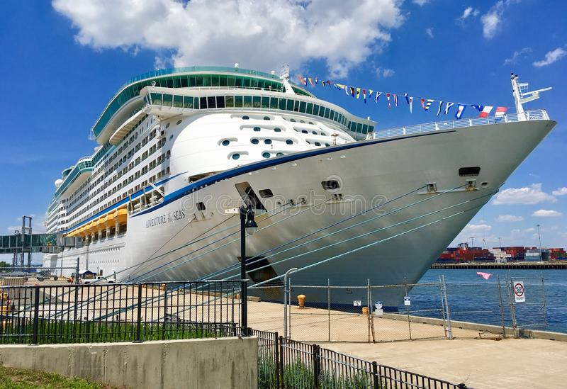 Adventure of the Seas in Bayonne, New Jersey stock photography