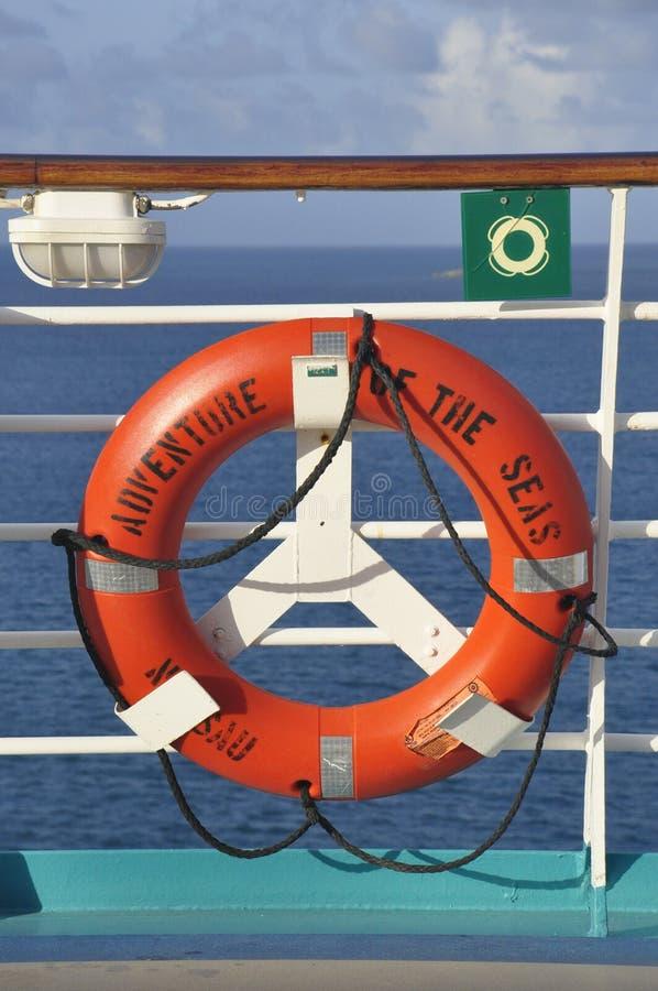 Adventure of the Seas lifering royalty free stock photo