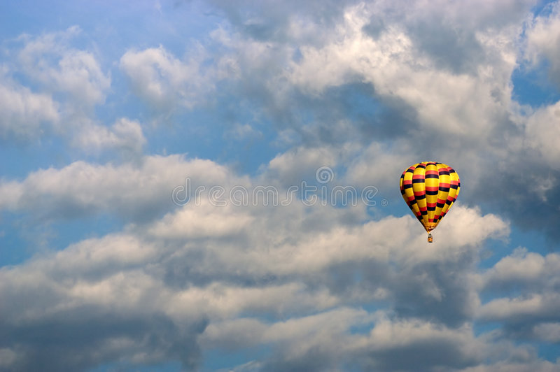 Adventure in the sky. Hot air balloon stock images
