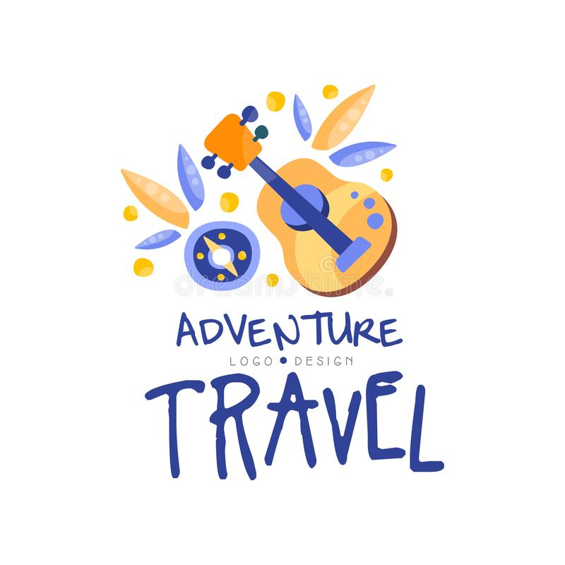 Adventure travel logo design, summer vacation, weekend tour, camping time, tourist agency creative label vector vector illustration