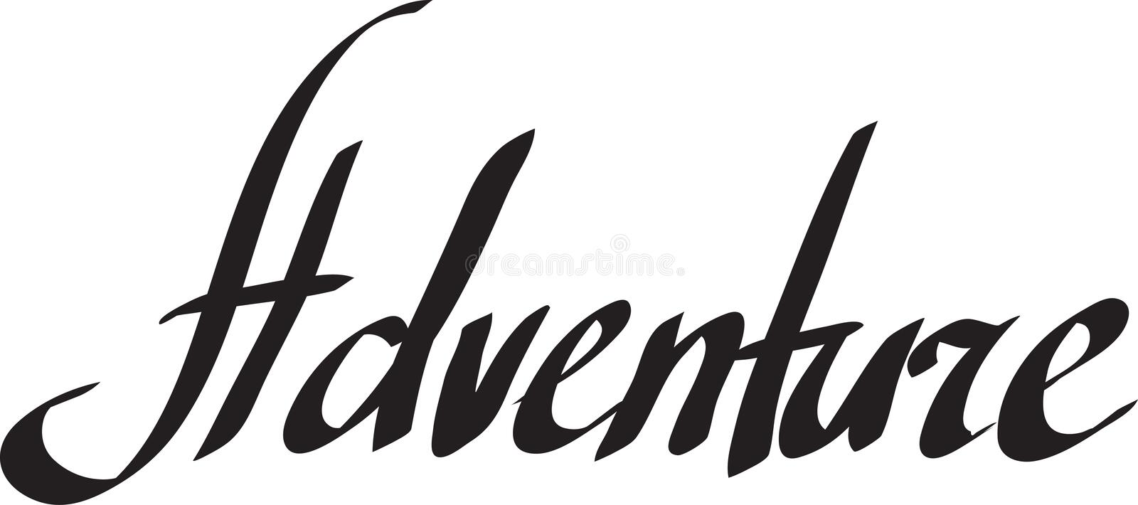 Adventure word isolated on white background vector illustration