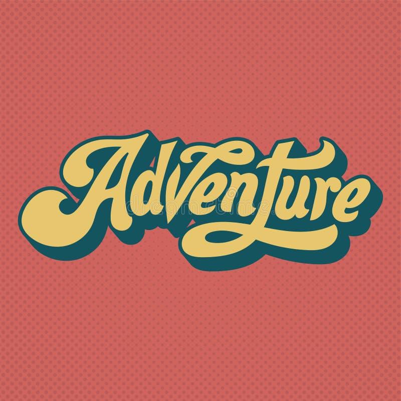 Adventure word typography style illustration vector illustration