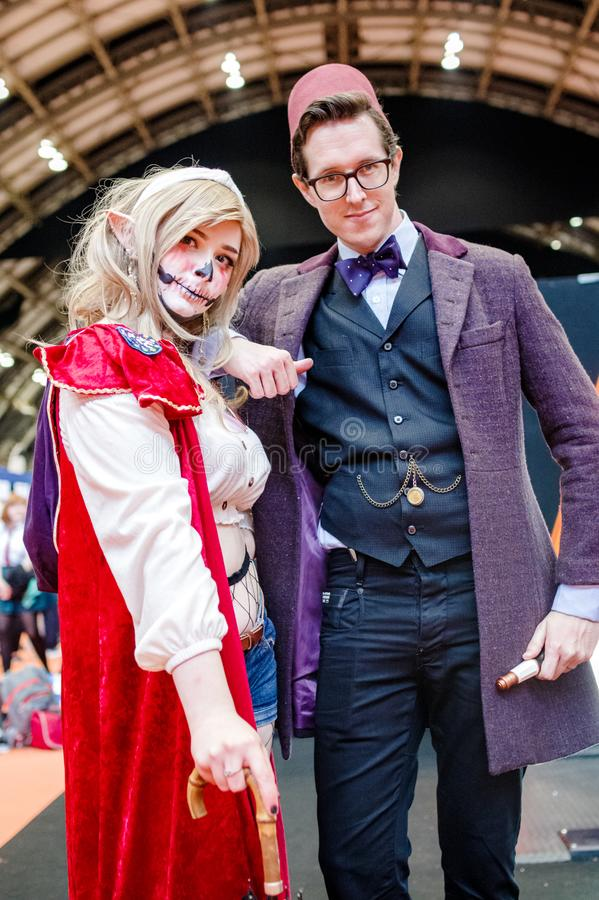 The Adventure Zone & Doctor Who Cosplayers stock photo