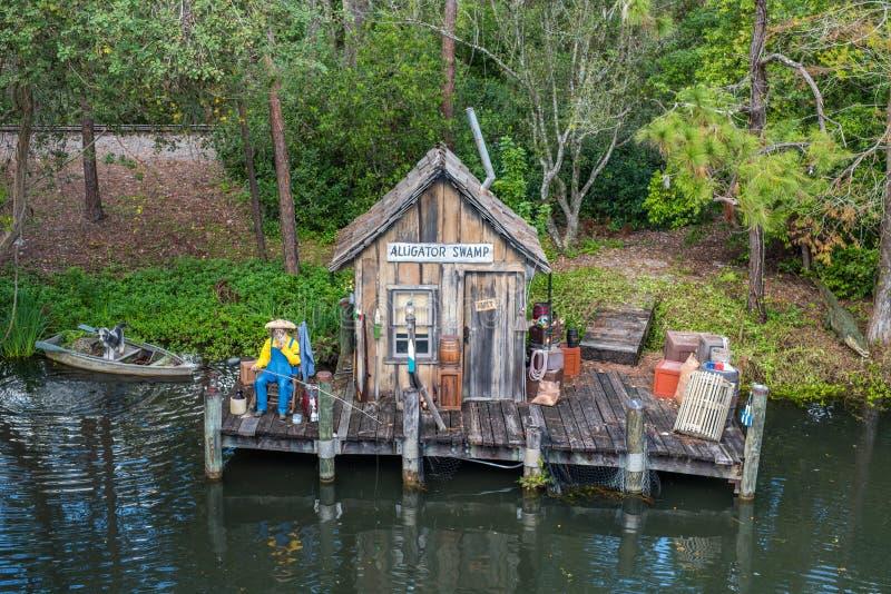 Adventureland bij het Magische Koninkrijk, Walt Disney World royalty-vrije stock foto's