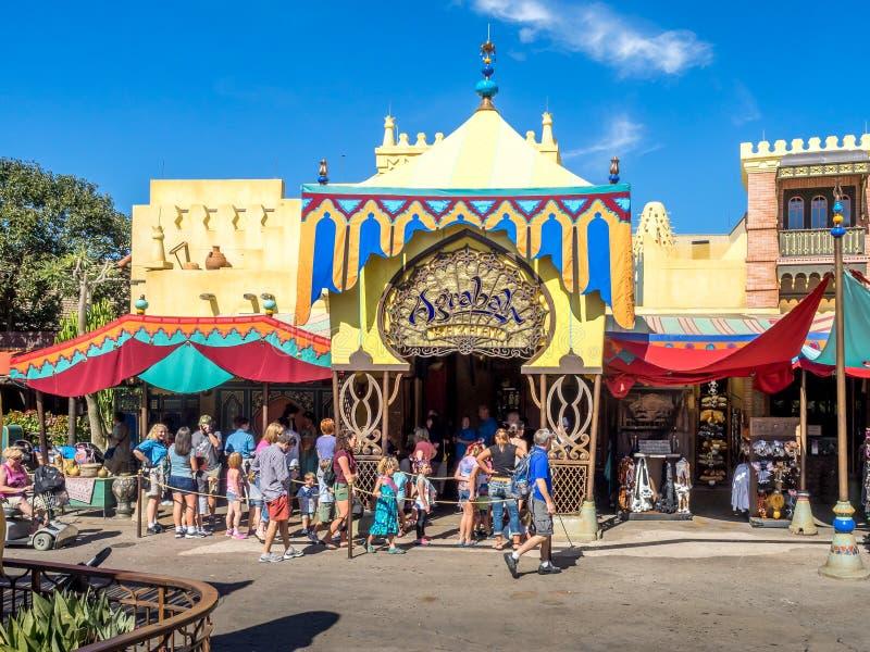 Adventureland, mundo de Disney imagens de stock