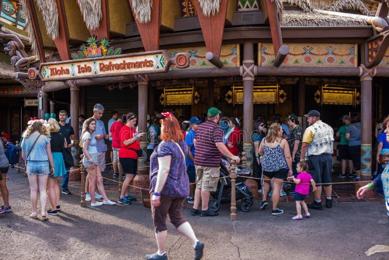 Adventureland no reino mágico fotografia de stock