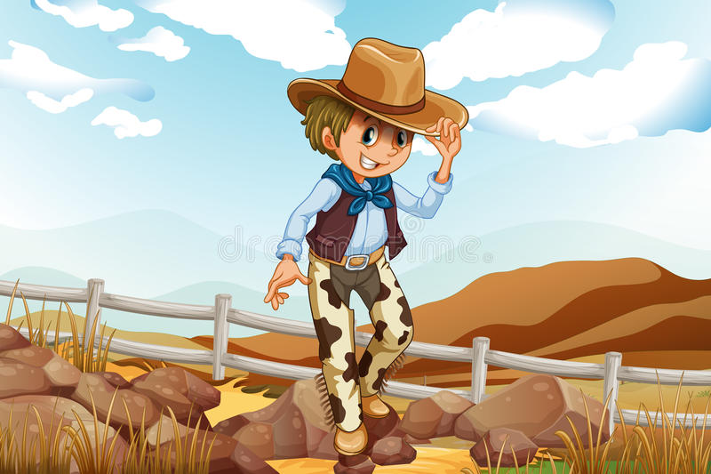 Download An Adventurer Above The Hill Near The Rocky Area Stock Photo - Image: 34316240