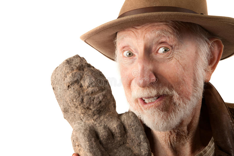 Download Adventurer Or Archaeologist With Idol Stock Photo - Image: 16338976