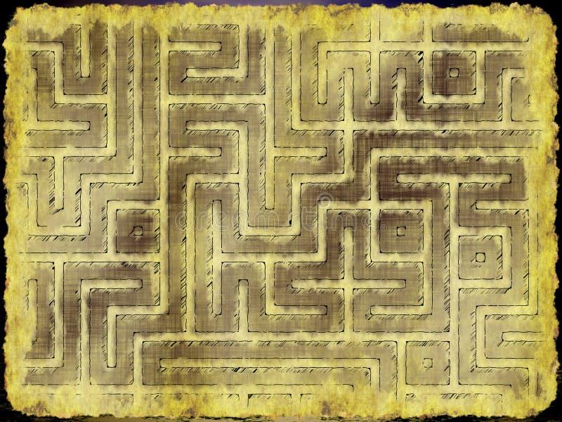 Download Adventurer's plan stock illustration. Illustration of cartography - 22932446