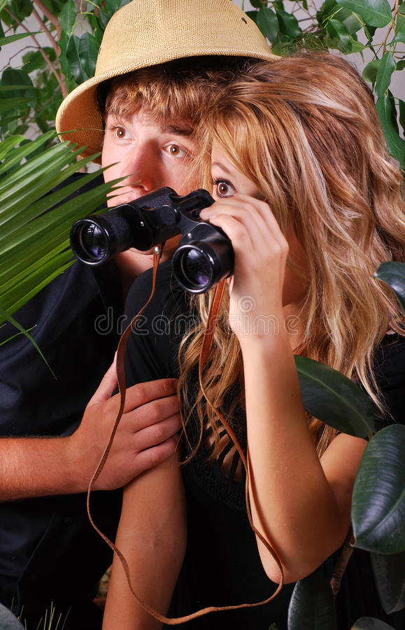 Adventurous Couple Stock Image