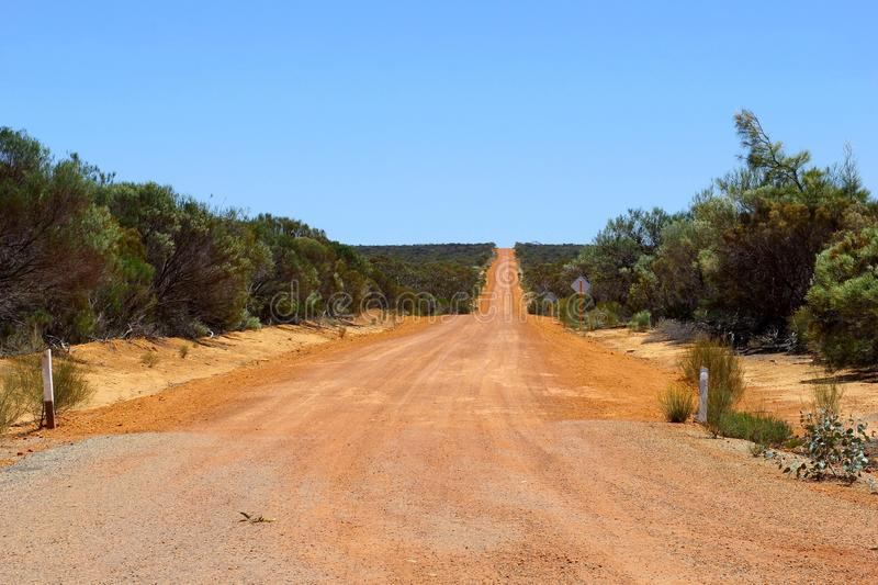 Adventurous 4WD Holland Track, dirt road in Western Australia royalty free stock photos