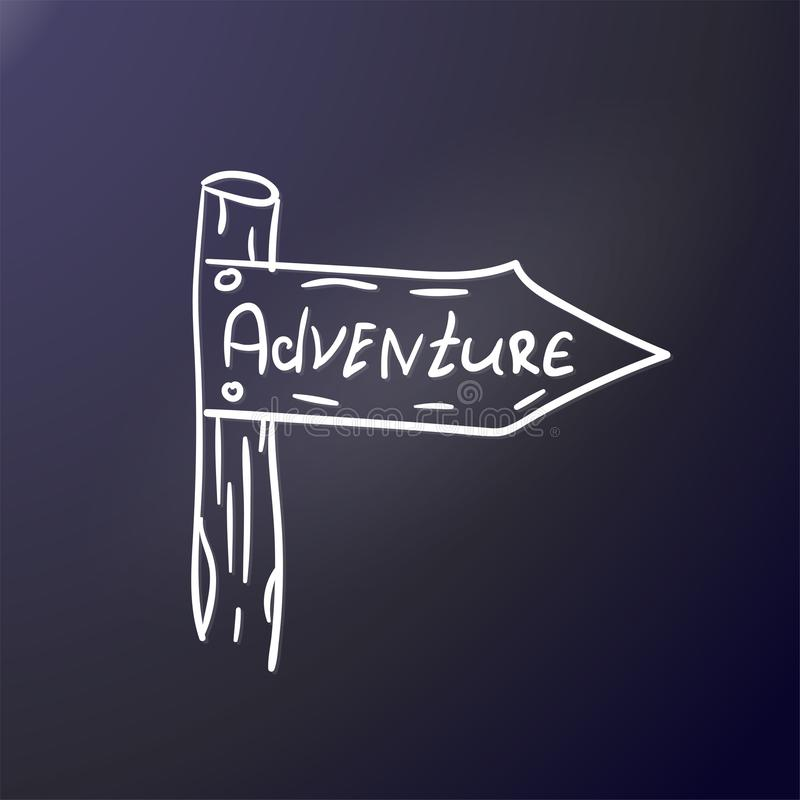 adventurousness Указатель столба На открытом воздухе стикер Печать на ткани, рубашке клуба, графическом дизайне r Серый контур бесплатная иллюстрация