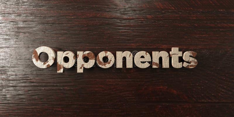 Adversaires - titre en bois sale sur l'érable - image courante gratuite de redevance rendue par 3D illustration de vecteur