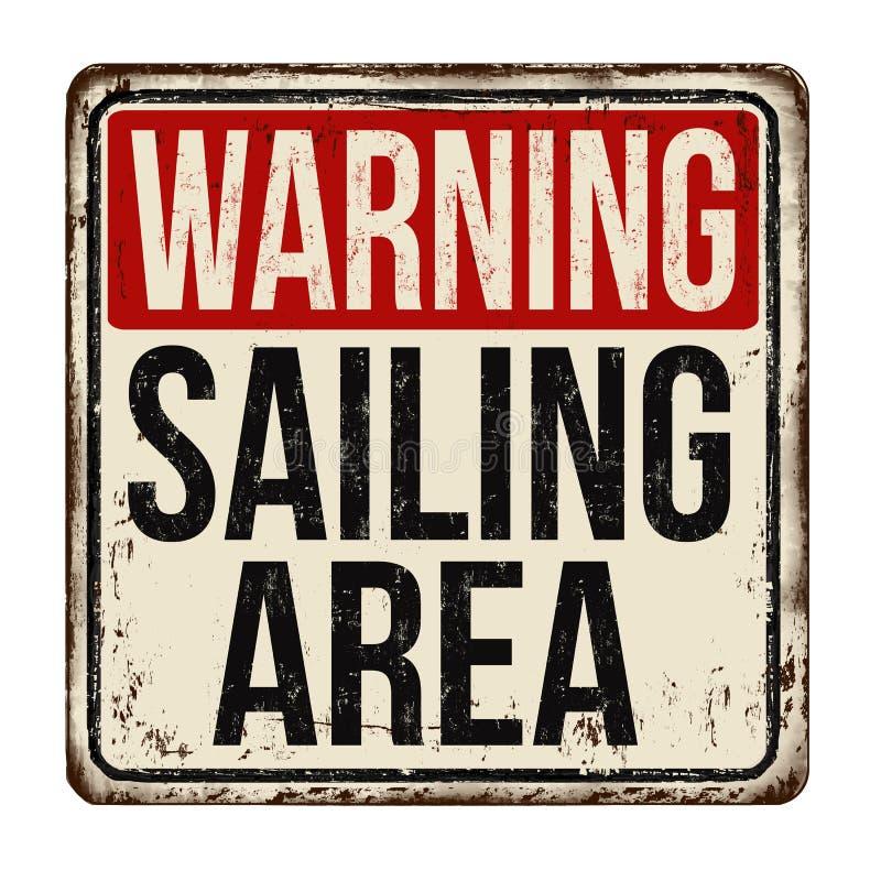 Advertência navegando o sinal oxidado do metal do vintage da área ilustração royalty free