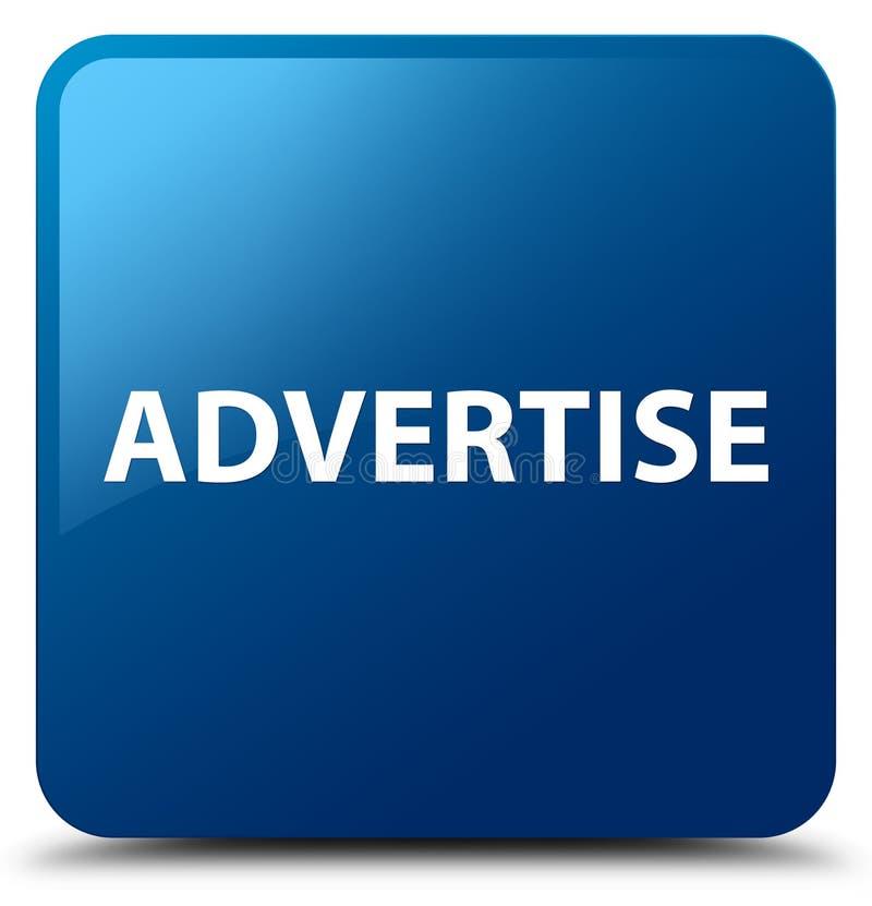 Adverteer blauwe vierkante knoop stock illustratie
