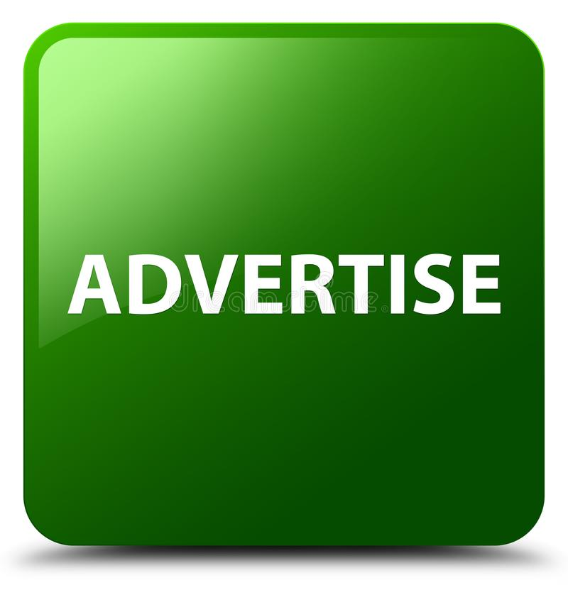 Adverteer groene vierkante knoop vector illustratie
