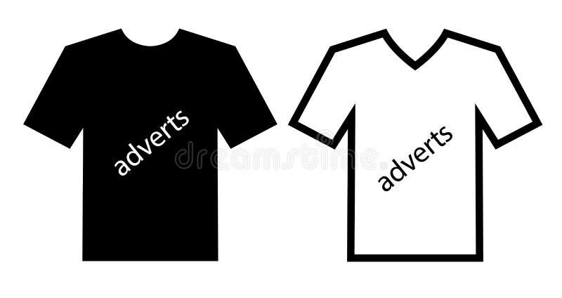 Adverteer kanalen op kleren stock illustratie