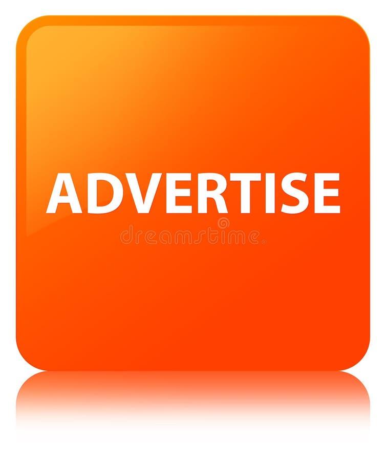 Adverteer oranje vierkante knoop stock illustratie