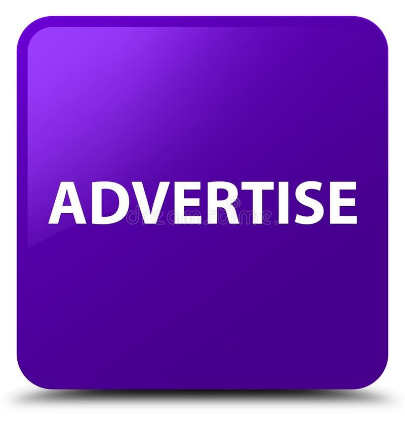 Adverteer purpere vierkante knoop stock illustratie