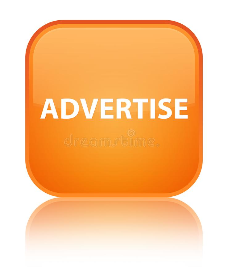 Adverteer speciale oranje vierkante knoop stock illustratie