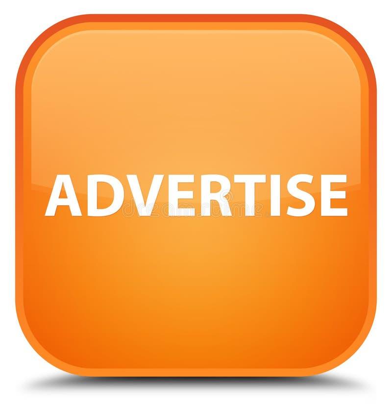 Adverteer speciale oranje vierkante knoop vector illustratie