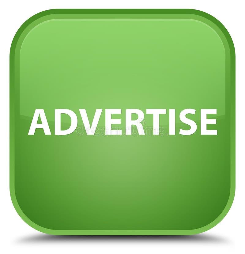 Adverteer speciale zachte groene vierkante knoop stock illustratie