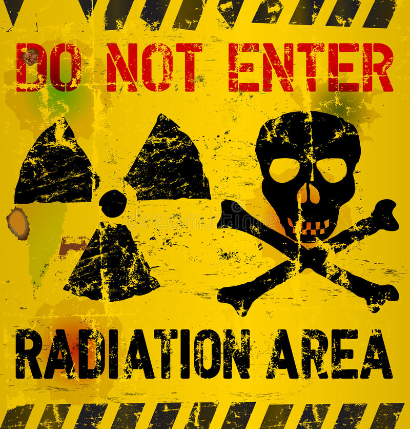 Advertencia De La Radiación Ilustración del Vector - Ilustración de ...