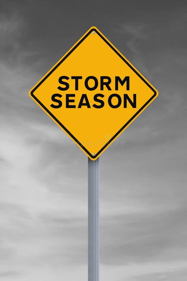 Advertencia de la tormenta foto de archivo