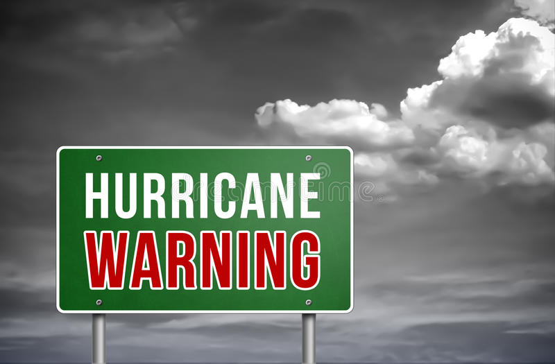 Advertencia del huracán ilustración del vector
