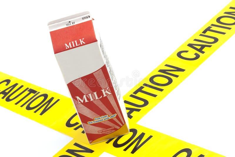 Advertencia dietética o intolerancia a la lactosa de la advertencia de la alergia imagen de archivo libre de regalías