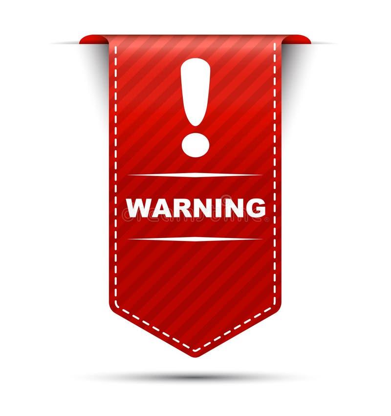 Advertencia roja del diseño de la bandera libre illustration