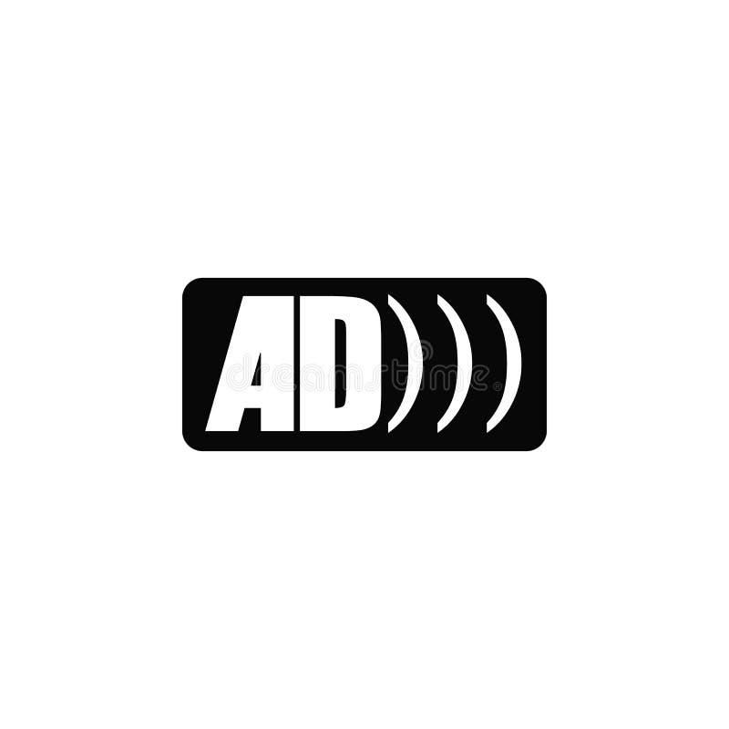 Advertentieembleem, pictogram Element van eenvoudig pictogram voor websites, Webontwerp, mobiele toepassing, infographics Dik lij stock illustratie