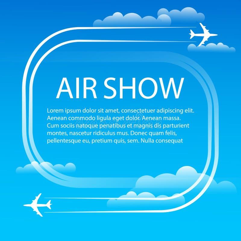 Adverterend banner voor lucht toon vector illustratie
