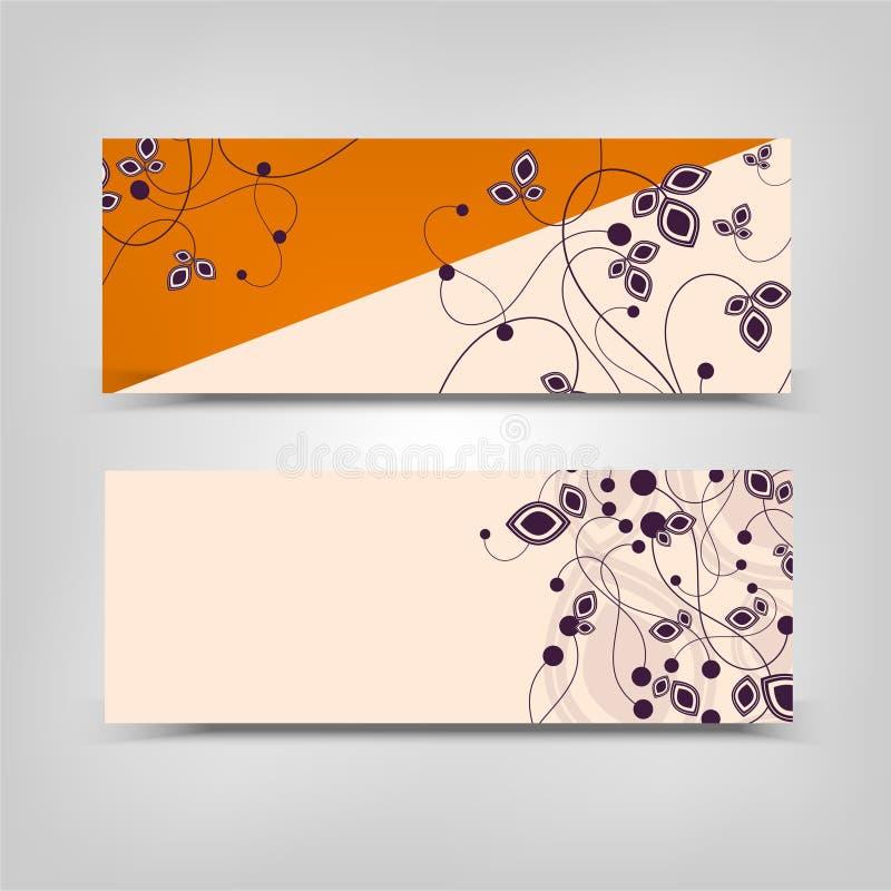 Adverterende bedrijfs vector abstracte oranje room als achtergrond royalty-vrije stock afbeeldingen